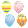 Rainbow Coloured Latex Balloons Pack of 6